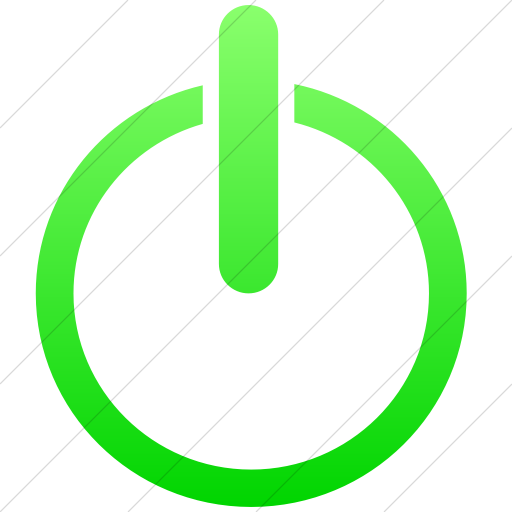 Simple Ios Neon Green Gradient Classica Power On Off Icon