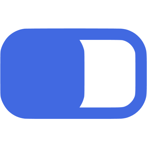 Royal Blue Switch On Icon