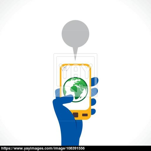 Go Green Or Save Earth Apps Icon Display In Mobile Concept Vector