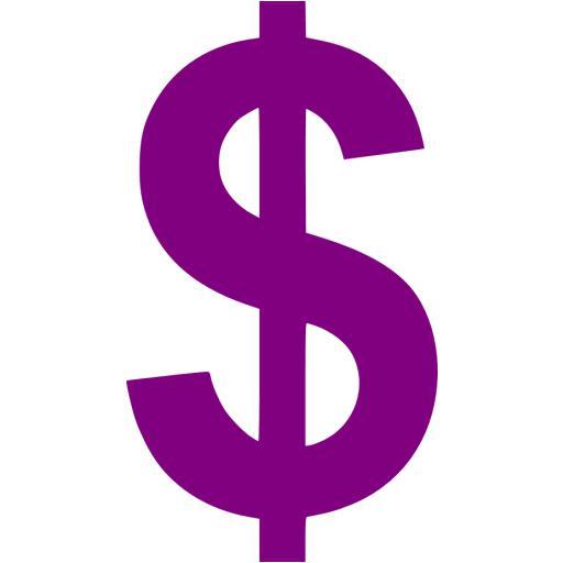 Purple Us Dollar Icon