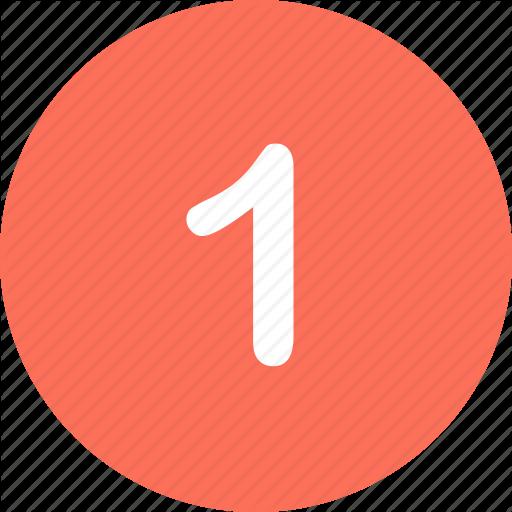Menu, Navigation, Number, One Icon