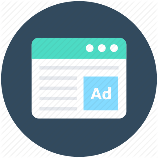 Ad Screen, Advertisement, Advertising, Online Ad, Web Ad Icon