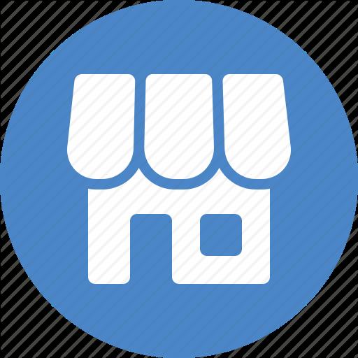 Blue, Circle, Ecommerce, Market, Online, Shop, Store Icon