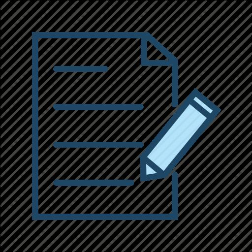 Document, Exam, Online Quiz, Survey, Test, Write Icon
