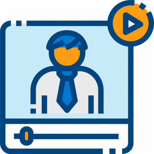 Computer, Digital, Learning, Online, Training, Tutorial, Video Icon