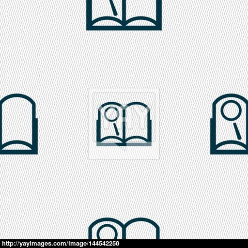 Book Sign Icon Open Book Symbol Seamless Abstract Background
