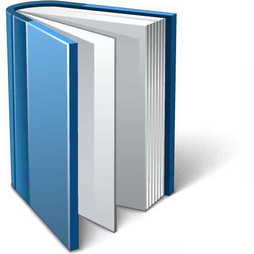 Iconexperience V Collection Book Blue Open Icon
