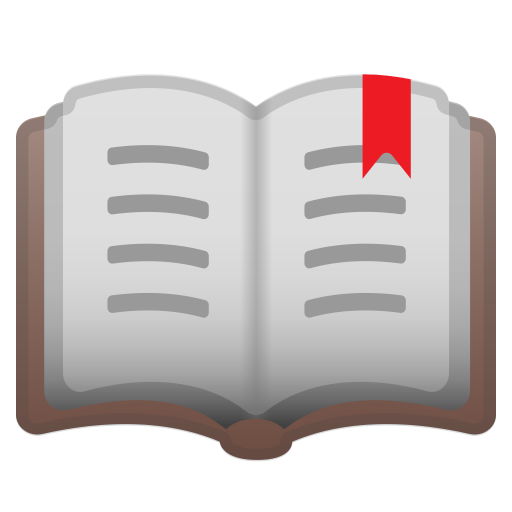 Open Book Icon Noto Emoji Objects Iconset Google