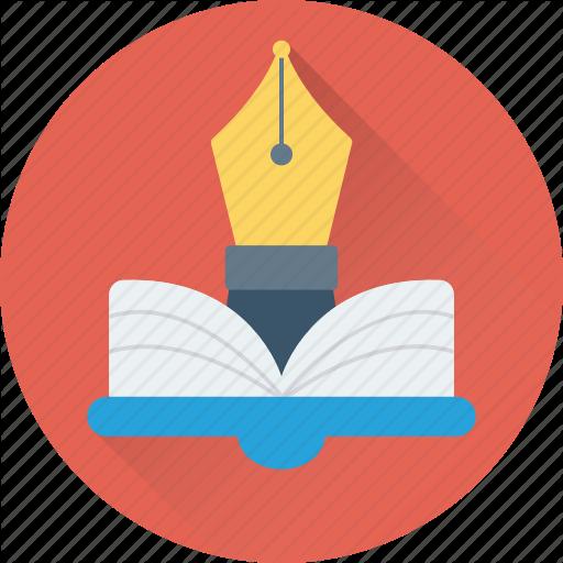 Book, Nib, Open Book, Pen, Study Icon