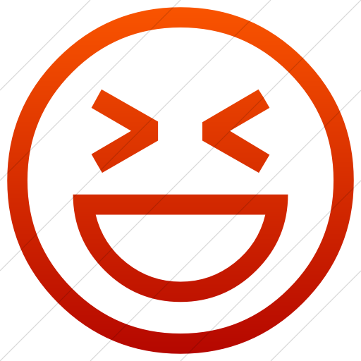 Simple Red Gradient Classic Emoticons Smiling Face