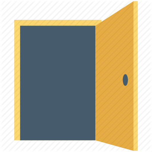 Door, Enter Sign, Entrance, Exit, Open Door Icon