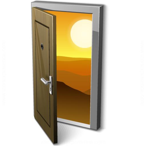 Iconexperience V Collection Door Open Icon