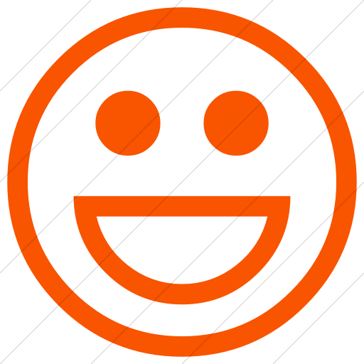 Simple Orange Classic Emoticons Smiling Face With Open