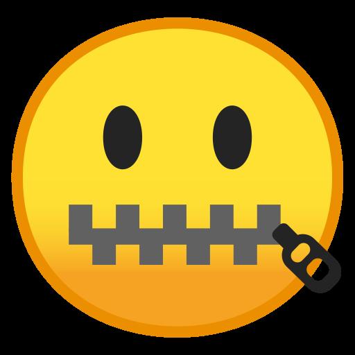 Zipper Mouth Face Icon Noto Emoji Smileys Iconset Google