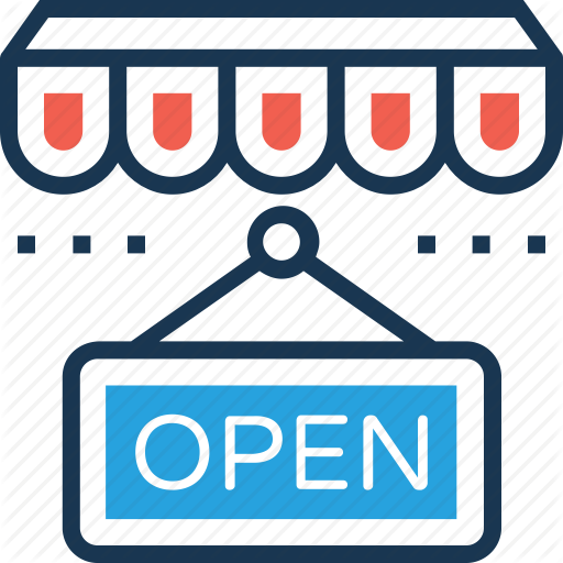 Hanging Sign, Open, Open Shop, Open Sign Board, Shop Sign Icon