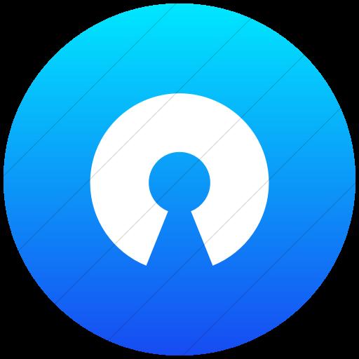Flat Circle White On Ios Blue Gradient Raphael