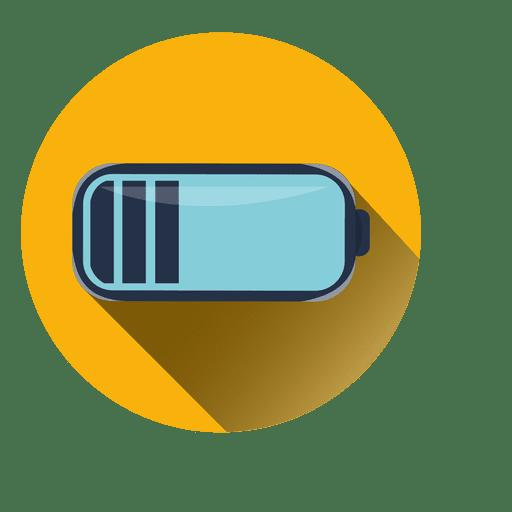 Battery Illustration Round Icon