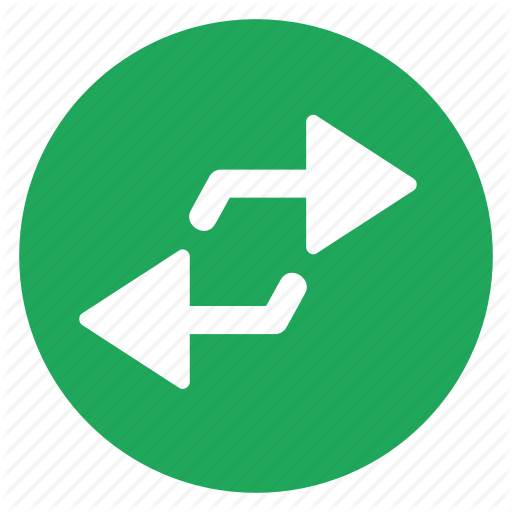 Arrow, Opposite, Parallel, Two, Way Icon