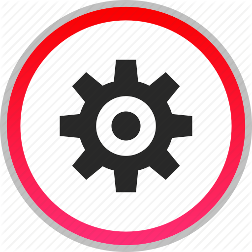 Gear, More, Options, Settings Icon Icons Flat Style