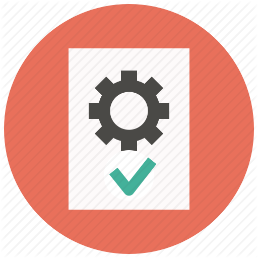 Settings, File, Gear, Page, Document, Approve, Options Icon