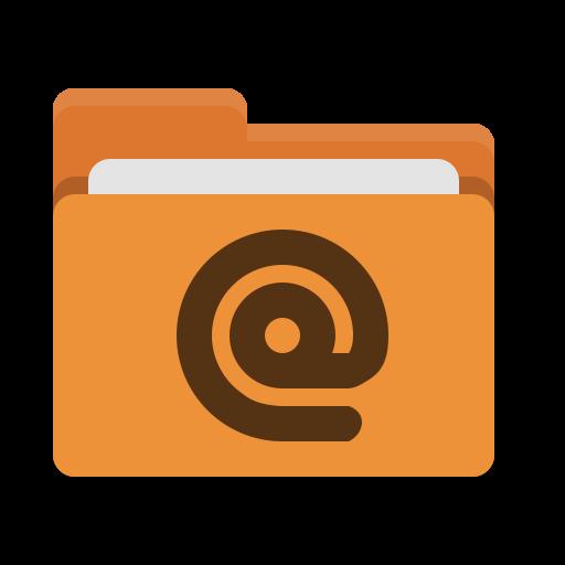 Folder, Orange, Mail Icon Free Of Papirus Places