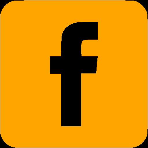Orange Facebook Icon