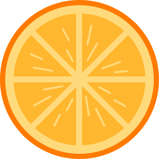 Orange, Fruit Icon
