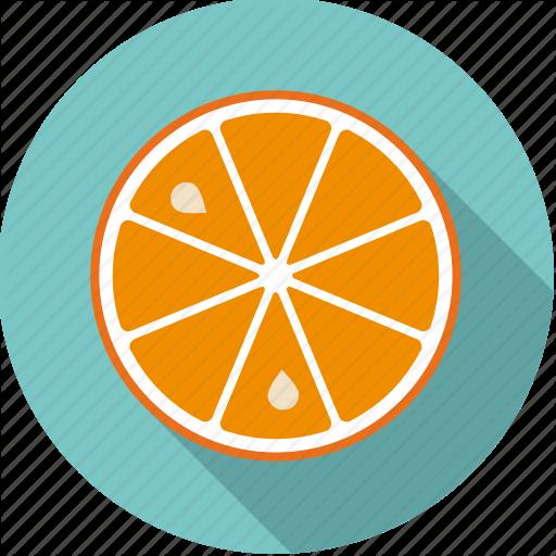 Citrus, Food, Fresh, Fruit, Orange, Slice Icon