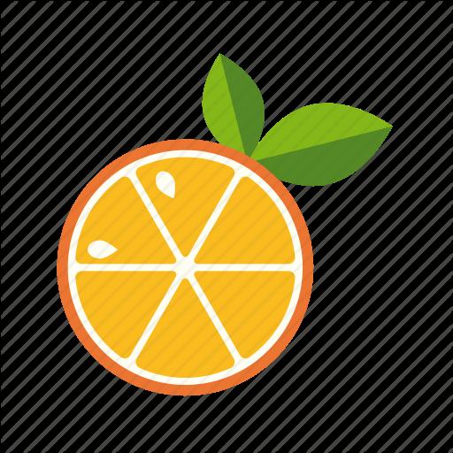 Citrus, Food, Fruit, Leaves, Orange, Slice Icon
