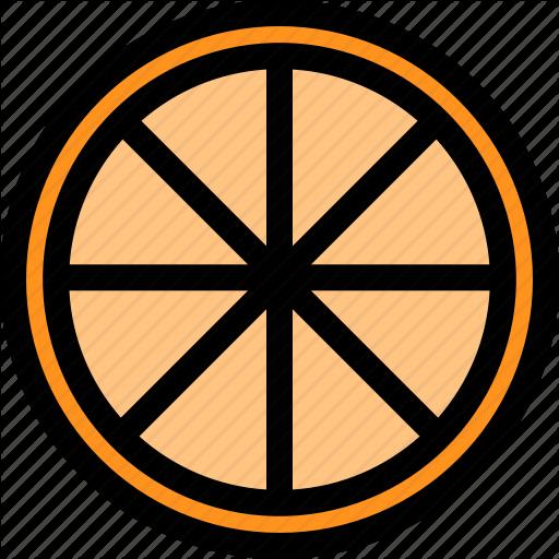 Food, Fresh, Fruit, Healthy, Orange, Slice Icon