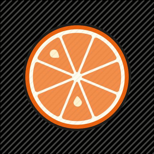 Food, Fresh, Fruit, Orange, Slice Icon