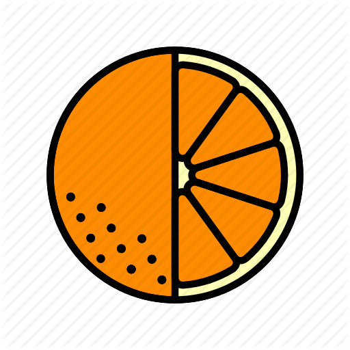 Food, Fruit, Healthy, Orange Slice Icon