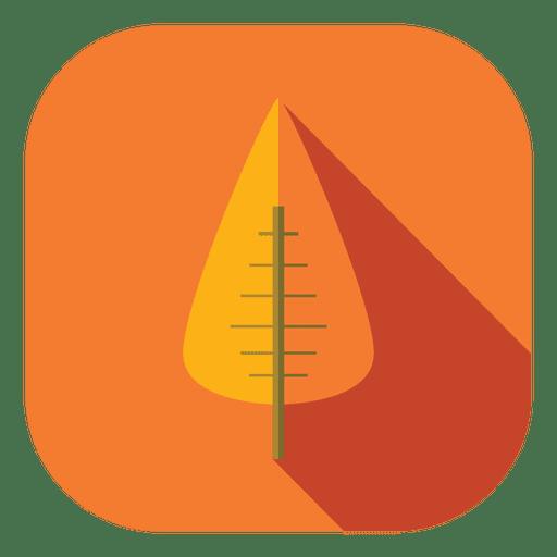 Orange Leaf Tree Icon