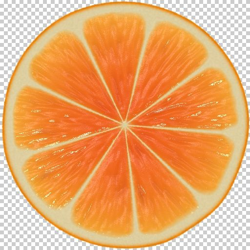 Orange Cross Section Blue Orange Fruit Painting