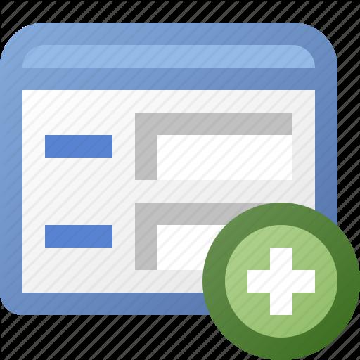 Add, Application, Form, Window Icon