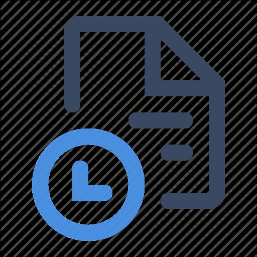 Document, History, Record, Sla, Sla Document, Timestamp Icon