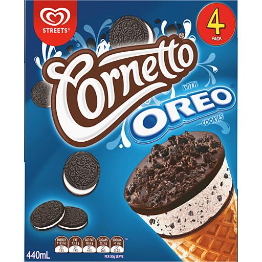 Streets Cornetto Ice Cream With Oreo Cookies Pack