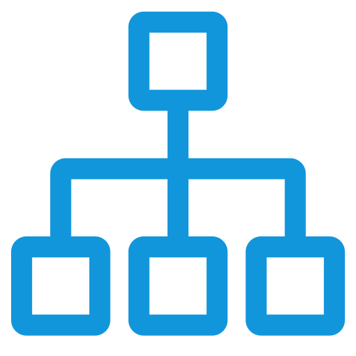 Organizational Structure, Structure Icon With Png And Vector