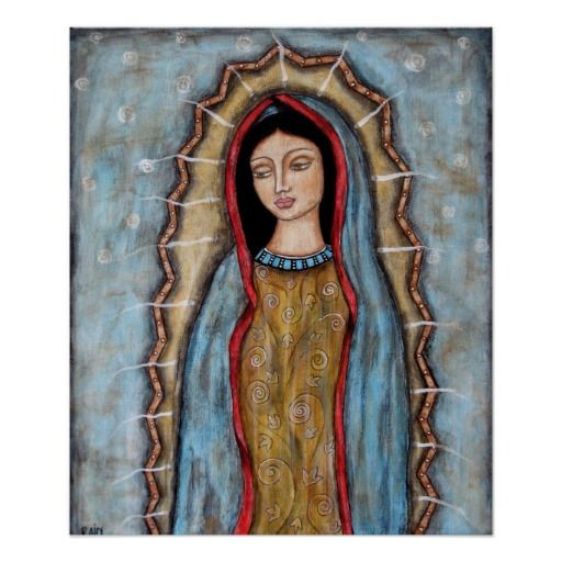 Our Lady Of Guadalupe Poster Sta Madonna