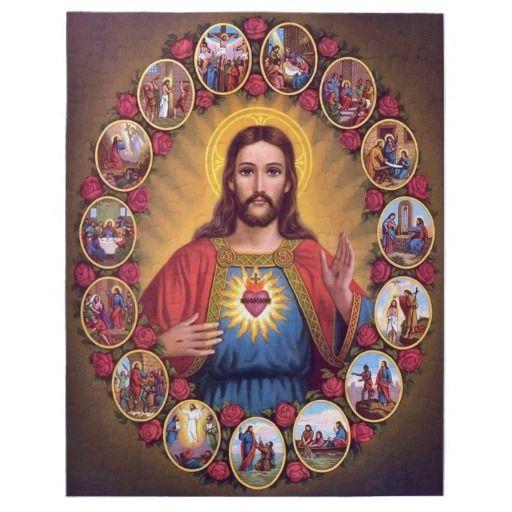 The Sacred Heart Of Jesus Jigsaw Puzzle Catholic