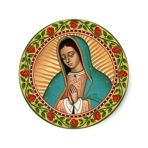 Our Lady Of Guadalupe Classic Round Sticker Crafts