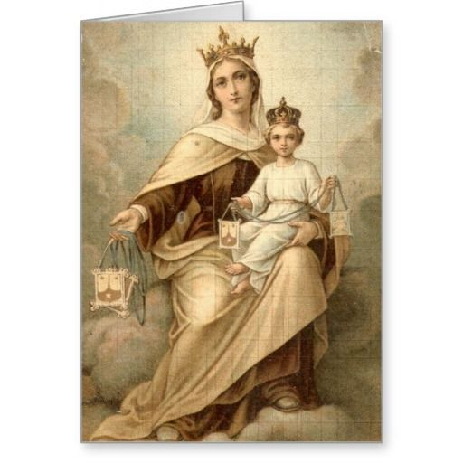 Our Lady Of Mt Carmel Mass Offering Card Mass Offering Cards
