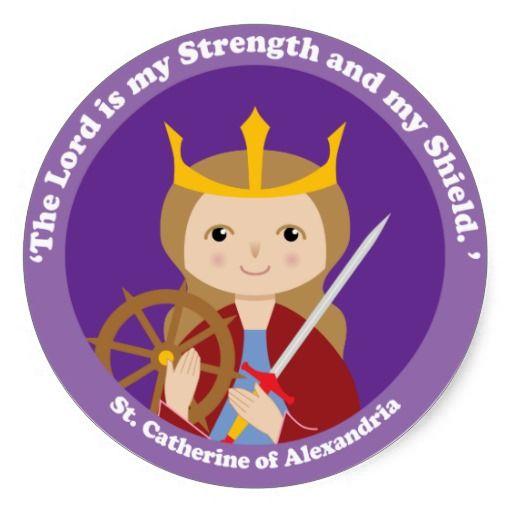 St Catherine Of Alexandria Classic Round Sticker Hopelessly