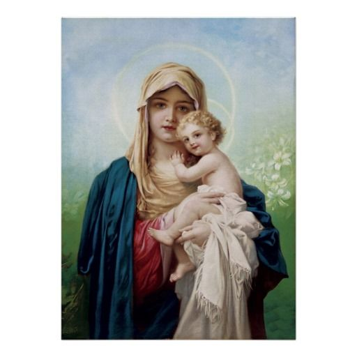 Mary Holding Jesus Poster Madonna And Child Mary