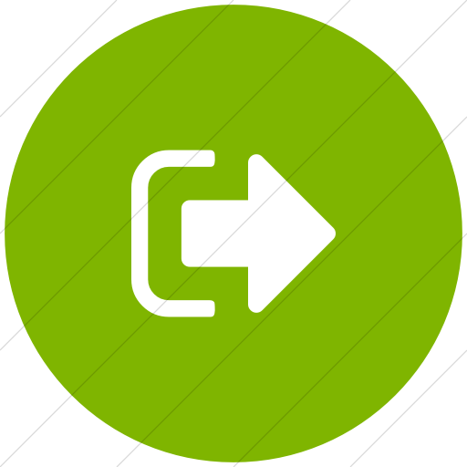 Flat Circle White On Green Bootstrap Font Awesome Sign