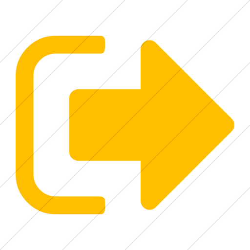 Simple Yellow Bootstrap Font Awesome Sign Out Icon