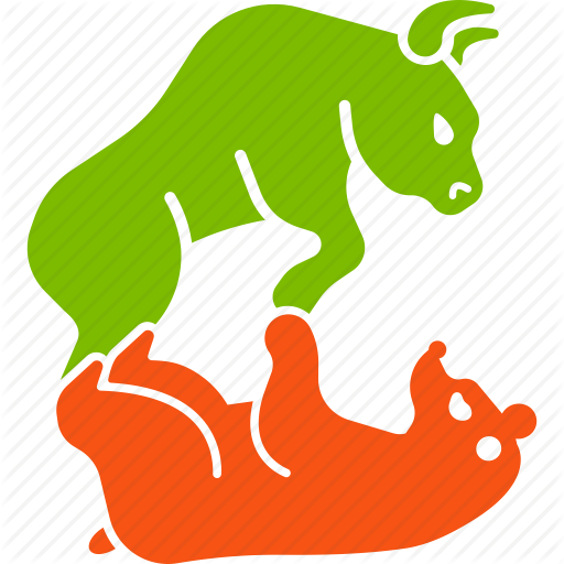 Bear, Bull, Business, Fund, Stock Market, Struggle, Traders Icon