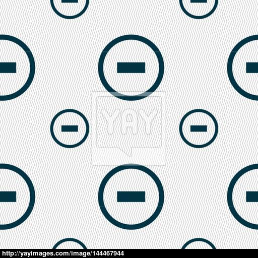 Minus Sign Icon Negative Symbol Zoom Out Seamless Pattern