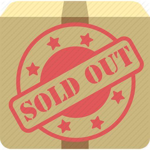 No Stock, Out Of Stock, Sold, Sold Out Icon