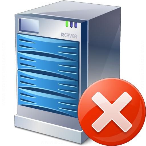 Iconexperience V Collection Server Error Icon